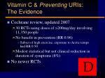 vitamin c preventing uris the evidence