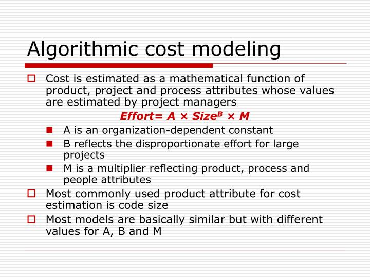 Algorithmic cost modeling