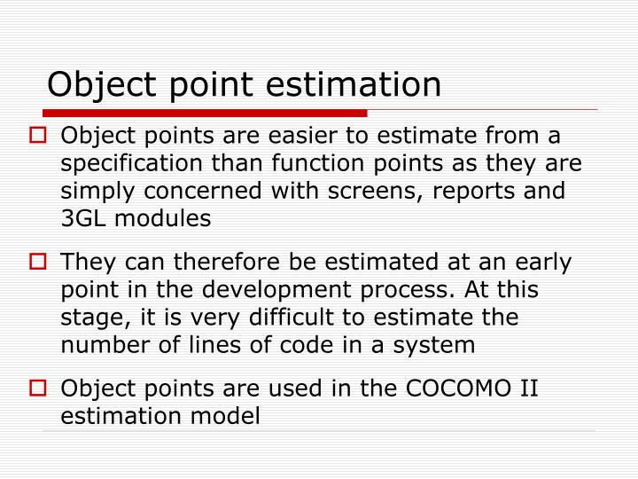 Object point estimation