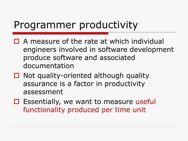 Programmer productivity