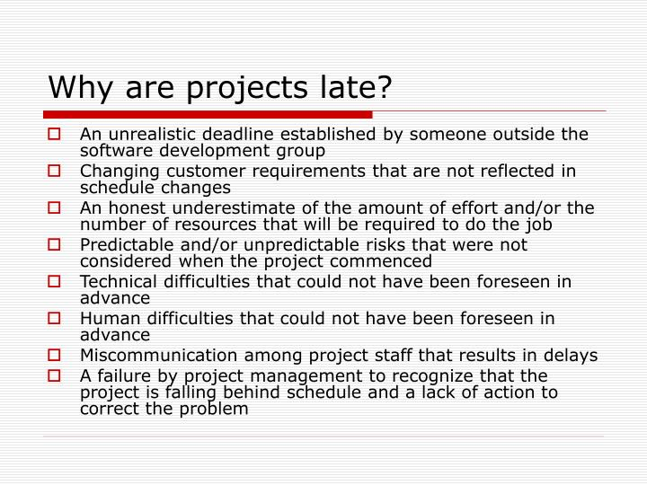 Why are projects late?