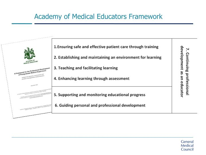 Academy of Medical Educators Framework