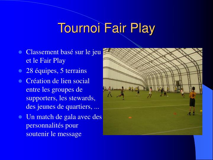 Tournoi Fair Play