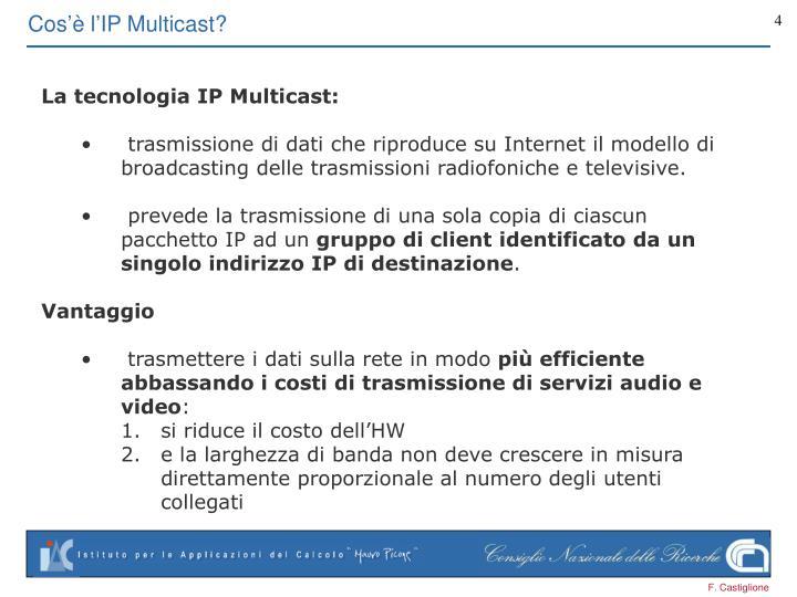 Cos'è l'IP Multicast?