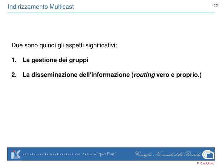 Indirizzamento Multicast