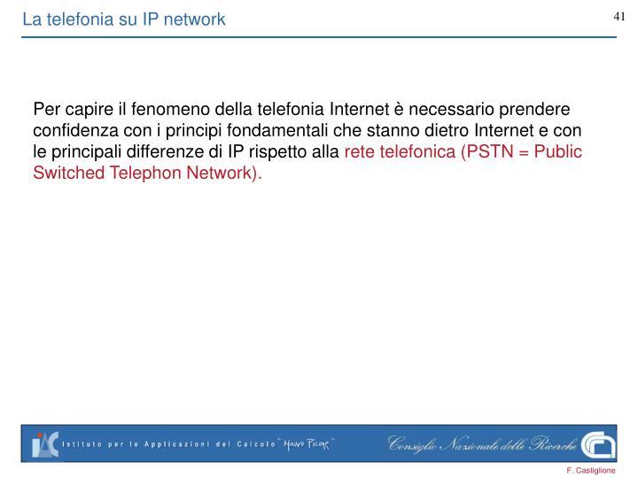 La telefonia su IP network