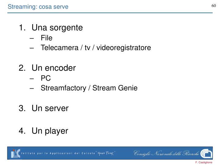 Streaming: cosa serve