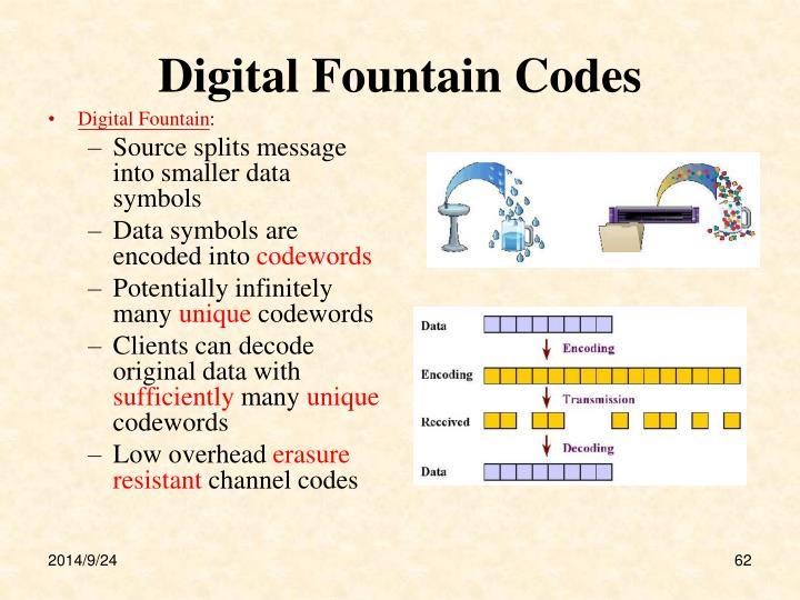Digital Fountain Codes