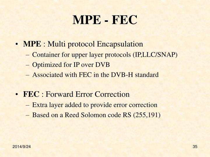MPE - FEC