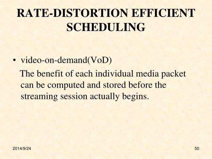 RATE-DISTORTION EFFICIENT SCHEDULING