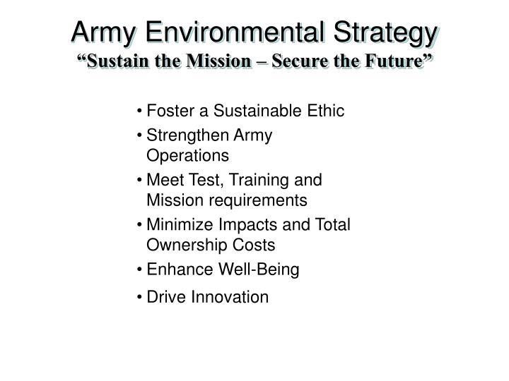 Army Environmental Strategy