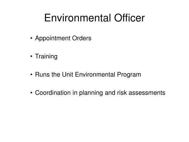 Environmental Officer