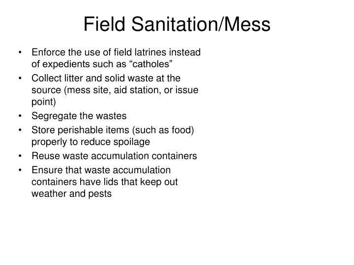 Field Sanitation/Mess