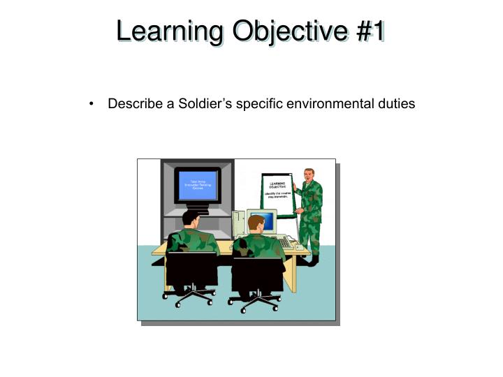 Learning Objective #1