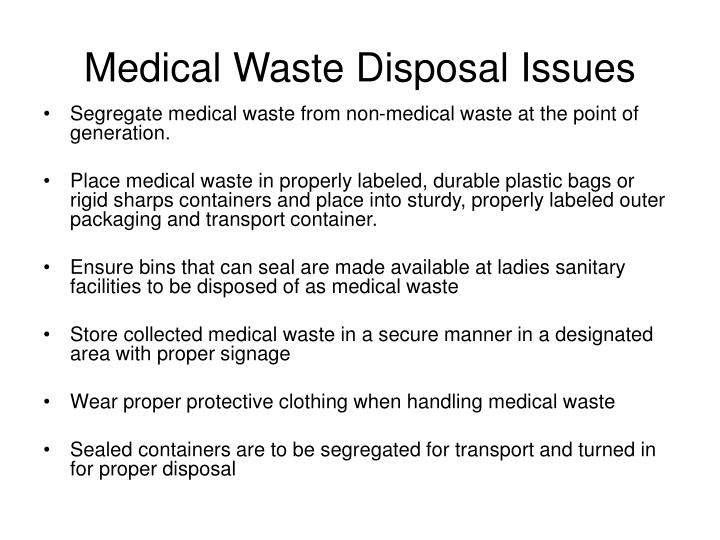 Medical Waste Disposal Issues