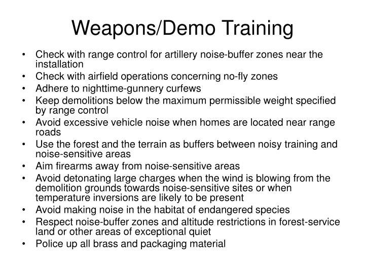 Weapons/Demo Training