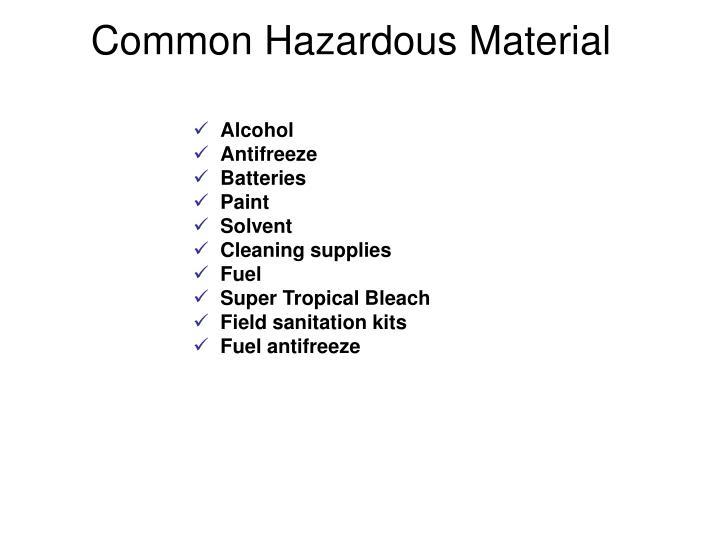 Common Hazardous Material