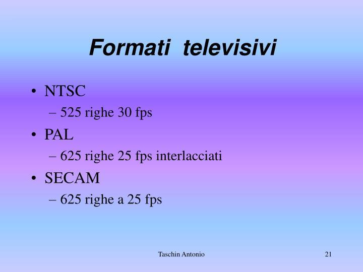 Formati  televisivi