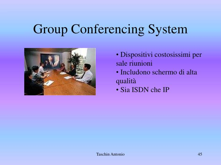 Group Conferencing System