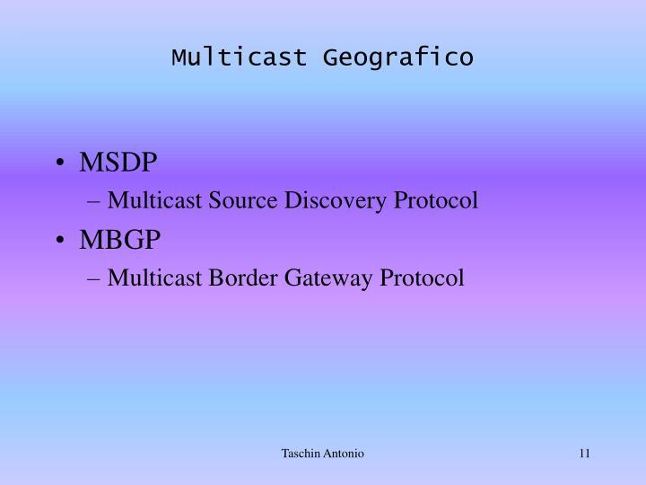 Multicast Geografico