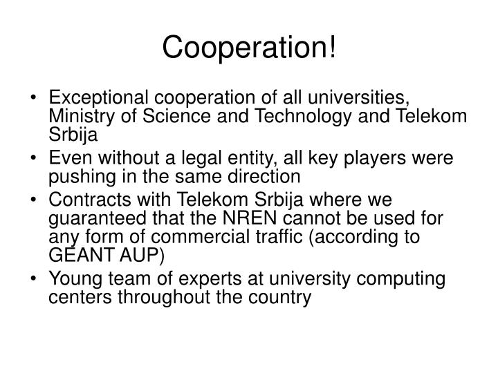 Cooperation!