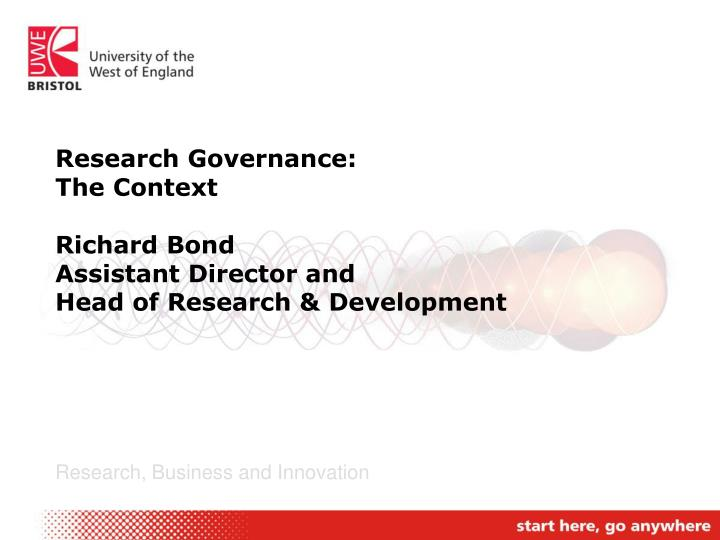 Research Governance: