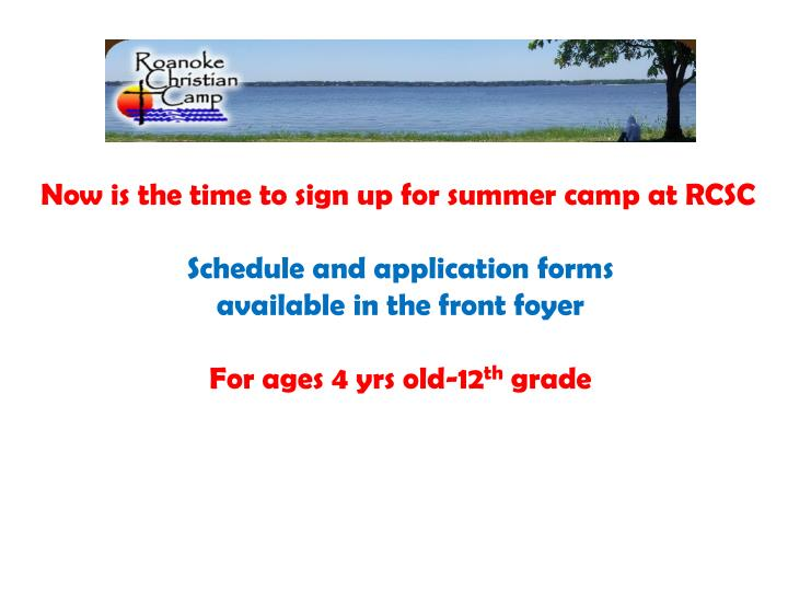 Now is the time to sign up for summer camp at RCSC