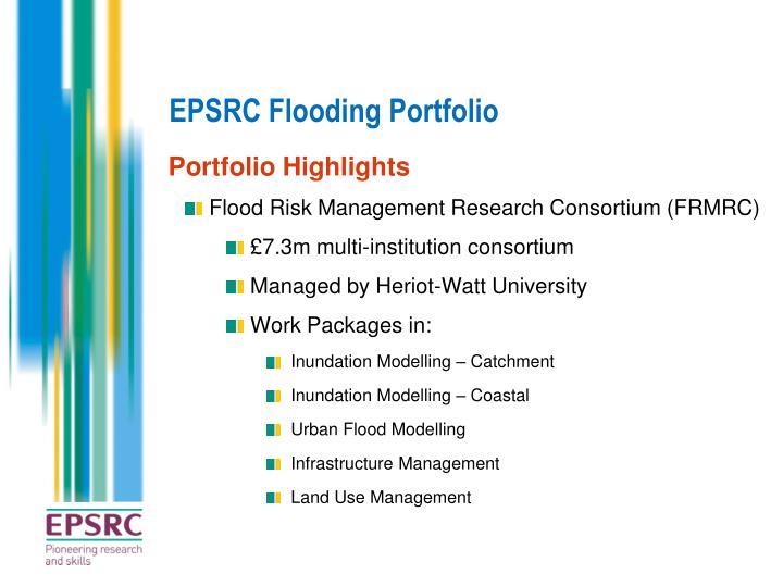 EPSRC Flooding Portfolio