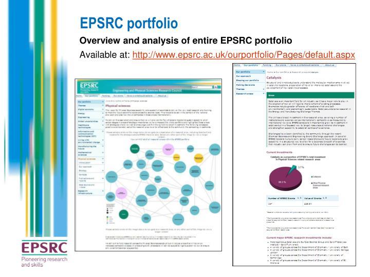 EPSRC portfolio