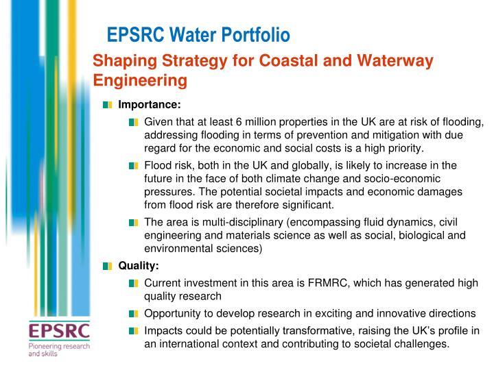EPSRC Water Portfolio