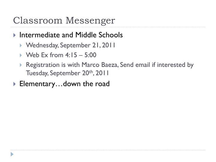 Classroom Messenger
