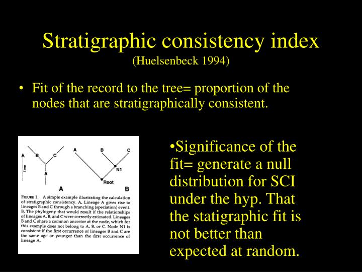 Stratigraphic consistency index