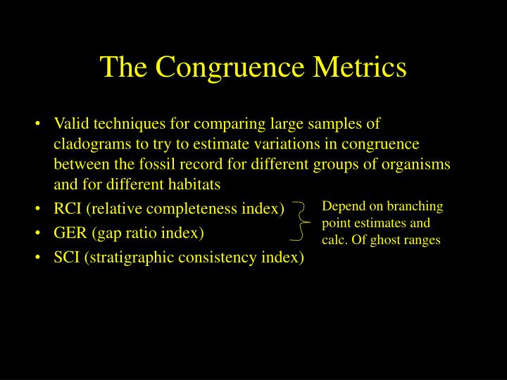 The Congruence Metrics