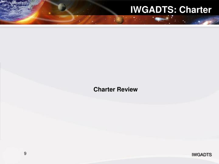 IWGADTS: Charter