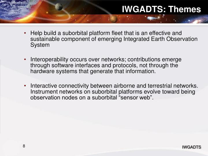 IWGADTS: Themes