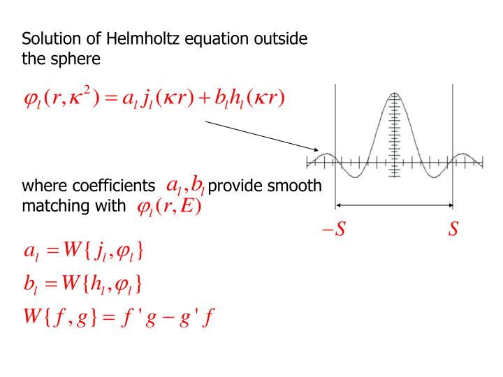 Solution of Helmholtz equation outside