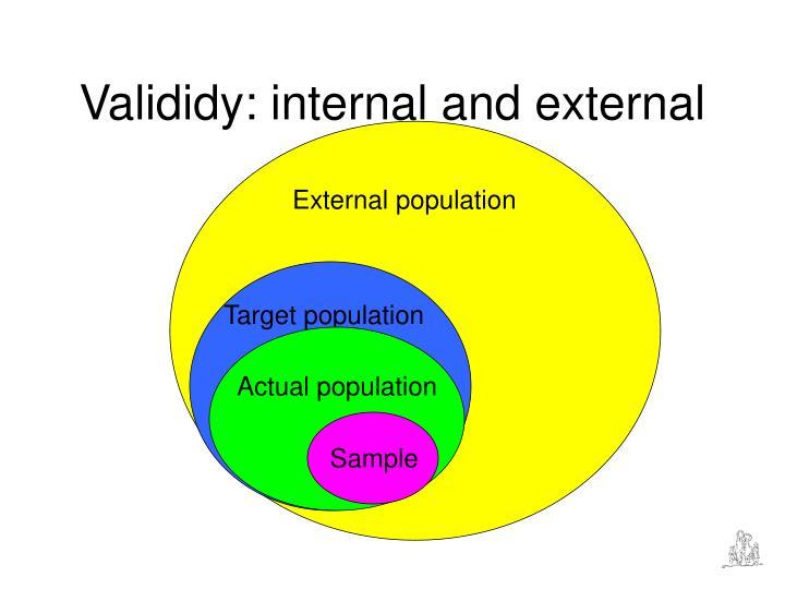 Valididy: internal and external