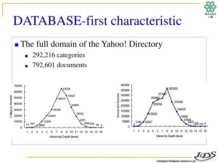 DATABASE-first characteristic