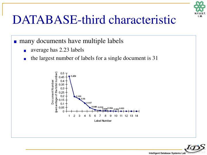 DATABASE-third characteristic