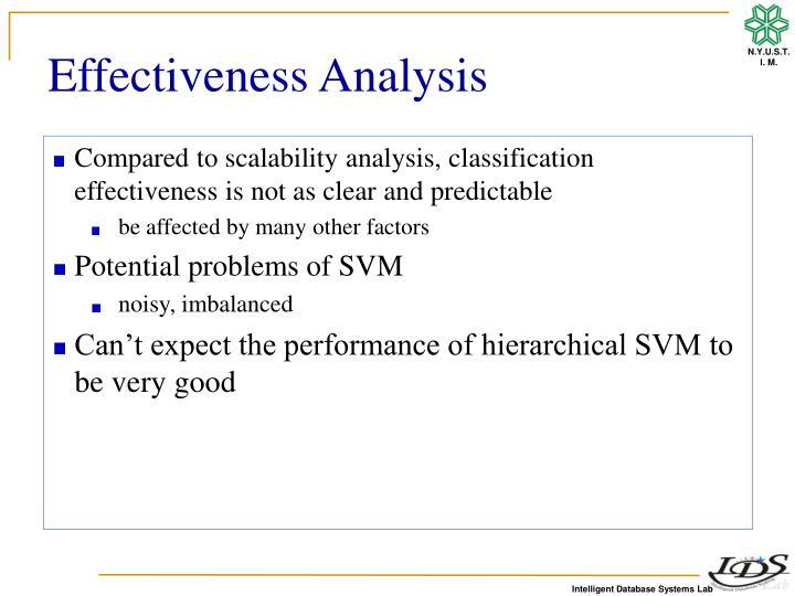 Effectiveness Analysis
