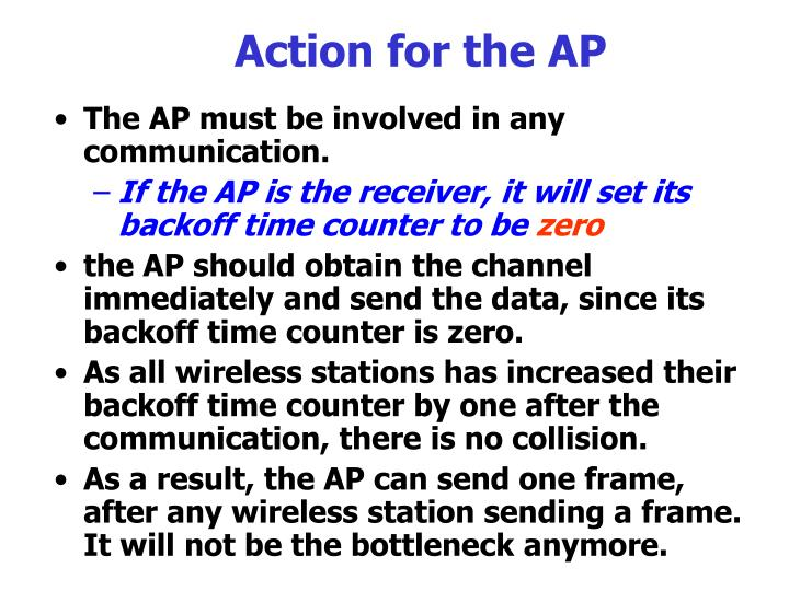Action for the AP