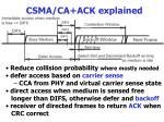 csma ca ack explained