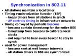 synchronization in 802 11