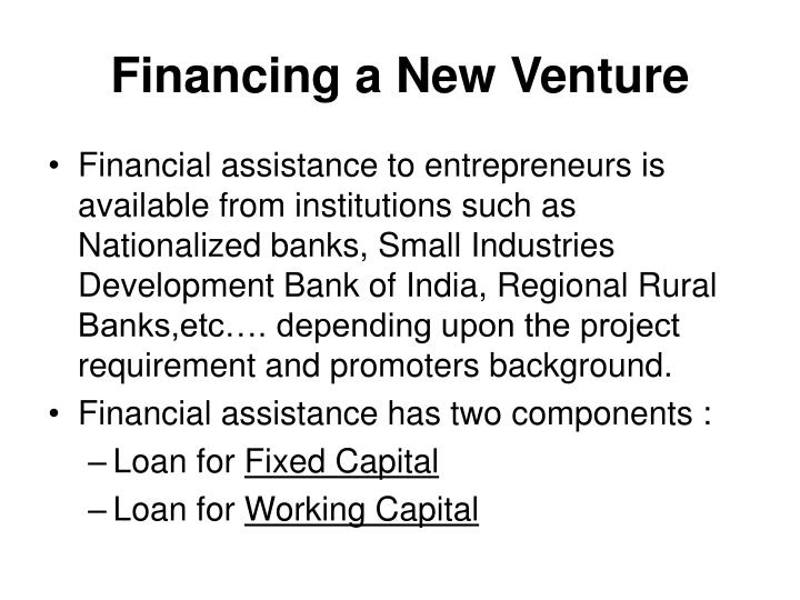 Financing a New Venture