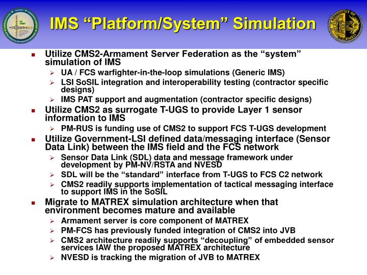 "IMS ""Platform/System"" Simulation"