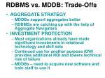 rdbms vs mddb trade offs1