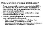 why multi dimensional databases1