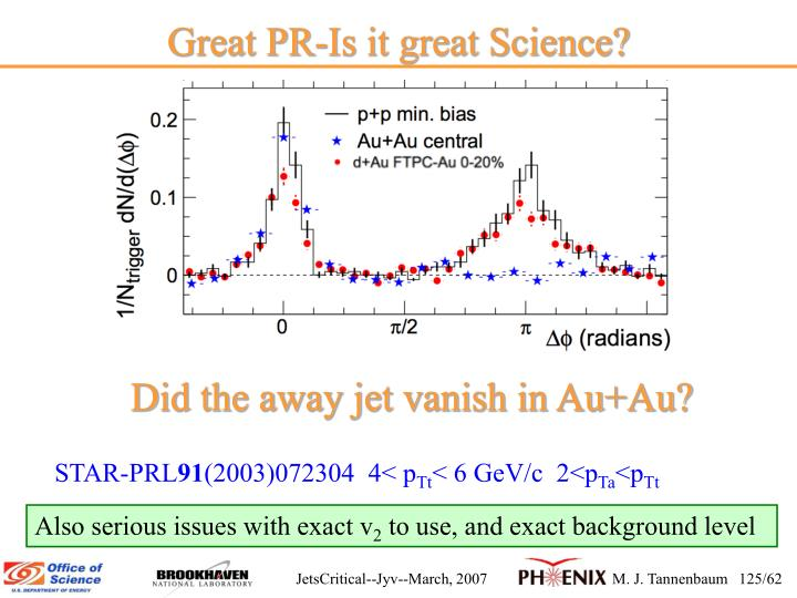 Great PR-Is it great Science?