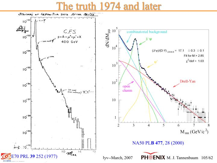The truth 1974 and later
