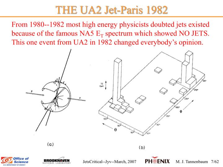 THE UA2 Jet-Paris 1982